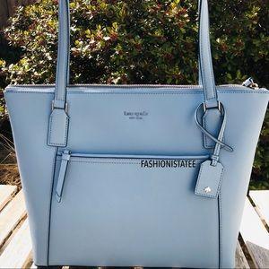 ❗️New Kate Spade Large Blue Pocket Tote Bag dawn